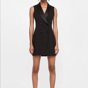 Zara sleeveless tuxedo dress
